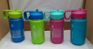 Kids Thermoflask Insulated Stainless Steel 414ml Flask with Built in Straw