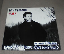 "12"" Maxi  Wolf Maahn Language Of Love (We Don't Talk),Near Mint Top, Parlophone"