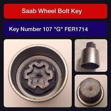 """Genuine Saab locking wheel bolt / nut key FER 1714. 107 """"G"""""""