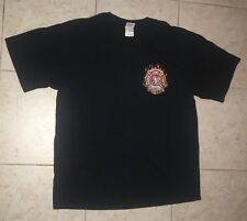 """American Made"" Fire Fighter Shirt  - Honor Courage Rescue - size large - Black"