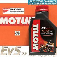 2 Lt Litri Motul 7100 15W50 Olio Motore Moto 4T 100% Sintetico ESTERE MA2