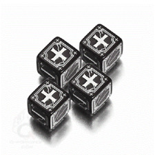 Ancient Fudge D6 Black & White Dice Set by Q-Workshop Dice Fate QWO46AFU05