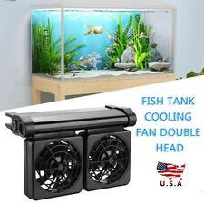12V Mini Aquarium Cooling Fan Water Plants Fish Tank Temperature Control Cooler
