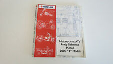 "Suzuki Motorcycle & Atv Ready Reference Manual 2000 ""Y"" Models 99923-32000"
