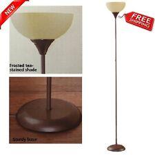 "Modern Floor Lamp Living Room Light Shade 71"" Metal Stand Wood Finish Home Decor"