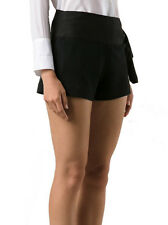 CHLOE Calzoncino Black Shorts Side Tie Mare Donna NWT 10 / 46