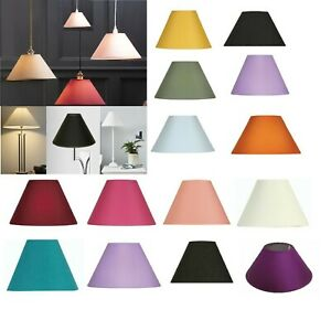 "9"" - 14"" Cotton Fabric Coolie Easy To Fit  Light Shade Table Ceiling Lampshade"