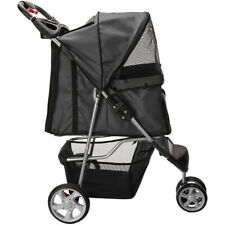 Pet Stroller 3Wheels Dog Cat Cage Travel Folding Double-deck Bearing weight 15KG