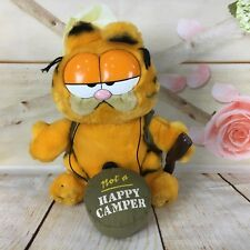 Garfield Not a Happy Camper Vintage 1981 Dakin 9 Inch Tall Stuffed Plush Doll