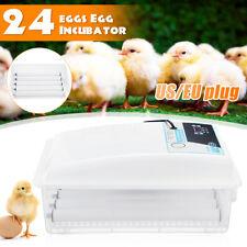24 яиц автоматический поворотный инкубаторы куриные птицы сигнализация Хэтчер + фонарик домой