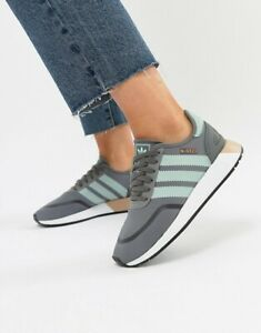 Adidas Originals N-5923 Gray Mint Green Stripes Lace Up Running Sneakers Men 9.5