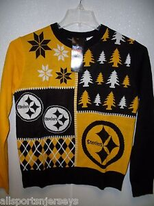 NFL Pittsburgh Steelers Busy Block Ugly Sweater Youth Size Youth Small by FOCO