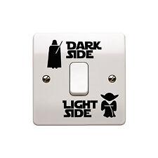 4 x star wars-light side/dark side interrupteur de lumière autocollant vinyle autocollant