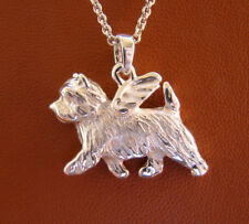 Sterling Silver Cairn Terrier Angel Pendant