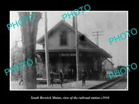 OLD LARGE HISTORIC PHOTO OF SOUTH BERWICK MAINE, THE RAILROAD STATION c1910