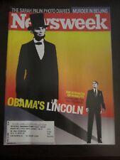 Newsweek Magazine November 2008 Obama's Lincoln Murder in Beijing Palin Photo
