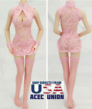 "1/6 Sexy Lace Dress Stockings Set For 12"" Phicen Hot Toys Female Figure  U.S.A."