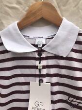 GF Ferre Men's Polo Shirt M Strips White/burgundy