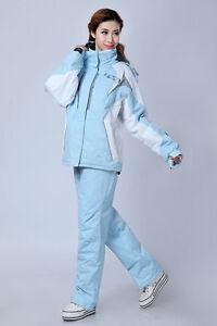 Winter Women Ski Suit Jacket+Pants Warm Thermal Snowboard Snowsuit Waterproof