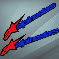 2 Autocollants Sticker Auto Motocross Alpinestars Voiture Course Velo Motard GP