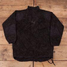 "Mens Vintage Puma Black Deep Pile Quarter Zip Fleece Jumper XL 46"" R15160"