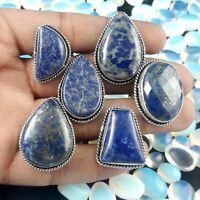 Lapis Lazuli Gemstone 925 Sterling Silver Overlay Rings10 PcsWholesale Lot S-50