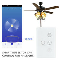 Smart WIFI Light Fan Wall Switch For Alexa Google Home IFTTT Safety Life App