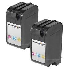 2PK Tri Color #23 for HP C1823D Ink Cartridge PSC 500xi Color Copier 140 145 150