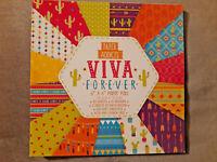 30 Sheets Viva Forever Paper Block- Scrapbooking Cardmaking Paper Pad Art Craft