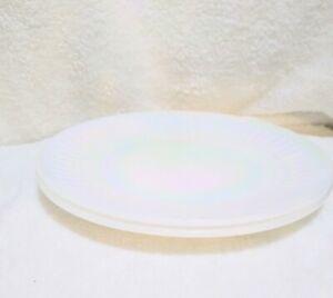 2 Vintage Federal glass Iridescent 10 1/2 Dinner Plates