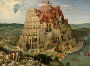 Pieter Bruegel the Elder The Tower of Babel Poster Giclee Canvas Print