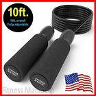 Aerobic Exercise Boxing Skipping Jump Rope Adjustable Bearing Speed Fitness BLK