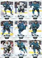 2019-20 O-Pee-Chee Hockey San Jose Sharks Team Set of 16 Cards