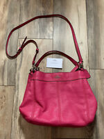 COACH Pink Fuschia Pebble Leather Hobo Purse Hand Bag AUTHENTIC, NEW