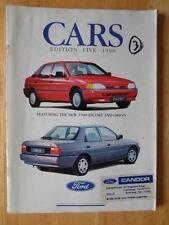 FORD voitures 1990/09 UK marché brochure de prestige-FIESTA XR2i, escort granada CAB