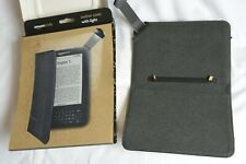 """Amazon Kindle Leather Cover with Light. Black. For 6"""" sizes"""