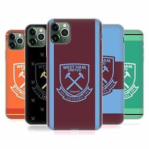 OFFICIAL WEST HAM UNITED FC 2020/21 CREST KIT GEL CASE FOR APPLE iPHONE PHONES