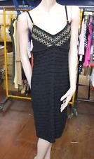 Joseph Ribkoff BNWT 10 Beautiful Black Ruffle Layer Dress with Beige Accents+Bow