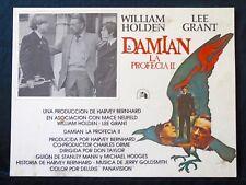 DAMIEN: OMEN II La Profecia William Holden Lee Grant LOBBY CARD 1978