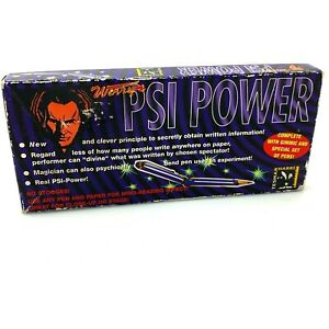 Vintage 1999 Werry PSI POWER Pen and Paper Mind Reading Magic Trick | New