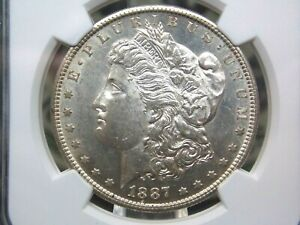 "1887 ""S"" Morgan Silver Dollar $1 NGC AU58 East Coast Coin & Collectables, Inc."