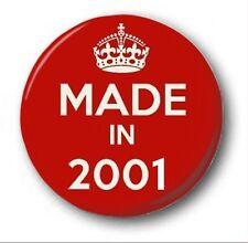 fabriqué en 2001 - 1 POUCE / 25mm Insigne de bouton - nouveauté mignon 17th