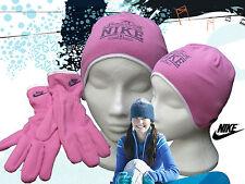 Nike Just Do It Bonnet polaire et gant Ensemble rose filles Authentique M