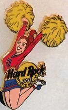 Hard Rock Cafe MYRTLE BEACH 2002 CHEERLEADER PIN Girl Jumping w/ Pom-Poms #13718