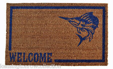 "DOOR MATS - FISHERMAN'S PARADISE VINYL BACKED WELCOME MAT - 18"" X 30"" - DOORMAT"