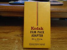 Vintage KODAK Film Pack Adapter In Original Box Camera Equipment