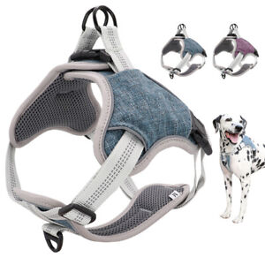 No-Pull Dog Harness Reflective No-Choke Front Clips Mesh Padded Step in Harness