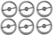 1963 63 Impala Tail Light Chrome Trim Rings Set of 6 Made in the USA