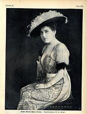 La Contessa Minotto (Agnes Sorma) memorabilie storico di 1912
