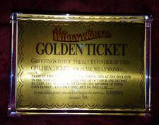 Original Willy Wonka Golden Ticket Executive Display  Desk Top Paperweight